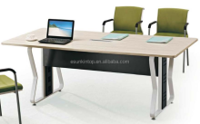 Heat modern simple conference table white and zrbra upholstery, Pro office furniture supplier (JO-6010)