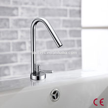 Modern Design Chrome Finished Wall Waterfall Hot And Cold Mixing Valve Washbasin Faucet