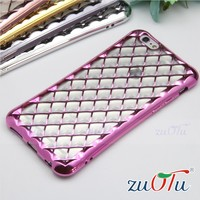 Hot selling 3D electroplate design super slim tpu case for iphone 6 plus