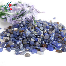 Chinese Supplier Blue Agate Crystal Healing Stones Mix In Semi Precious Stones