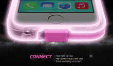 lighting custom glow in the dark silicone cell mobile phone case with usb cable