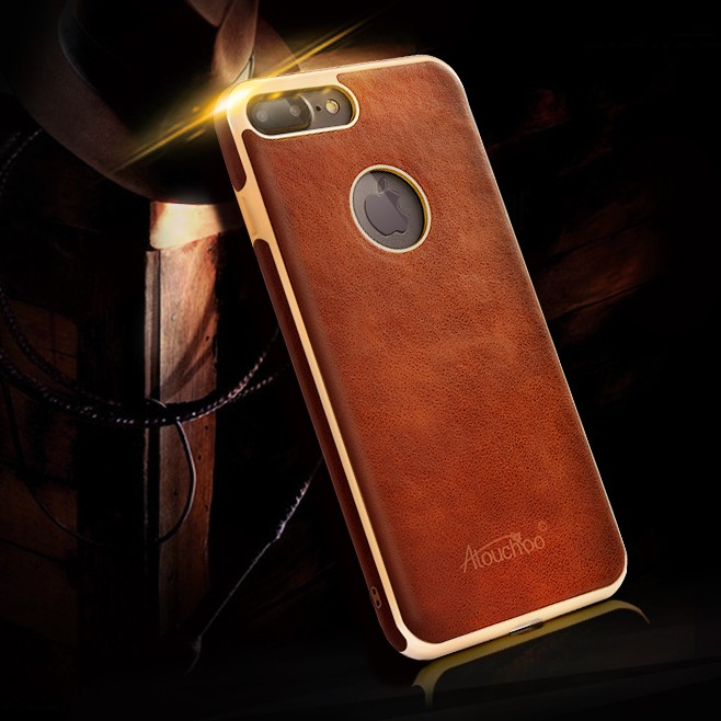 Factory Price TPU Protective Back Phone Cover Leather Case for iPhone 7