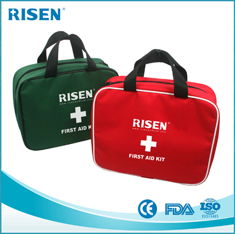 Wholesale Outdoor first aid kit/family travel first aid bag/mini first aid kit bag