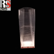 wholesale Food Grade Plastic Side Gusset Clear Cellophane Square Bottom Bag