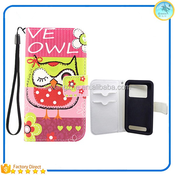 Low Price China Mobile Phone Universal Flip Leather Back Cover Housing Phone Case for Nokia 500/5130/lumia 920 Cover