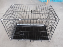 "New Black 30""Folding Metal Pet Cat Carrier Crate Cage Kennel"