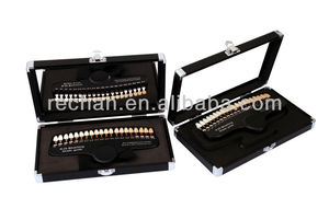 Hot Sale Teeth Whitening Shade Guide with Aluminum Case