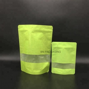 recyclable Ziplock lime green Rice Paper Bag for Wholesale