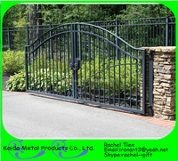 steel modern main gate designs for homes / garden arch wrought iron gate