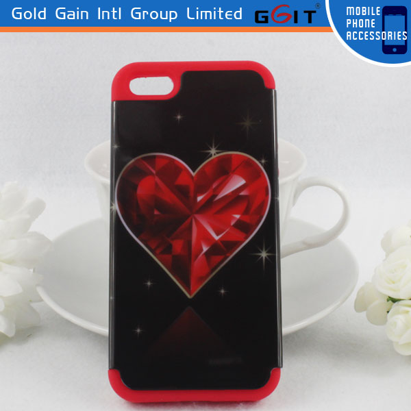 Combo Decal PC Case Back Cover For Samsung S3 Mini I8190, 2 in 1 Soft Silicone Case For Galaxy S3 Mini I8190