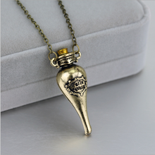 Felix Felicis Magical Potion Necklace Liquid Luck Bottle Vingtage Retro Antique Silver Bronze Pendant Movie Jewelry Wholesale