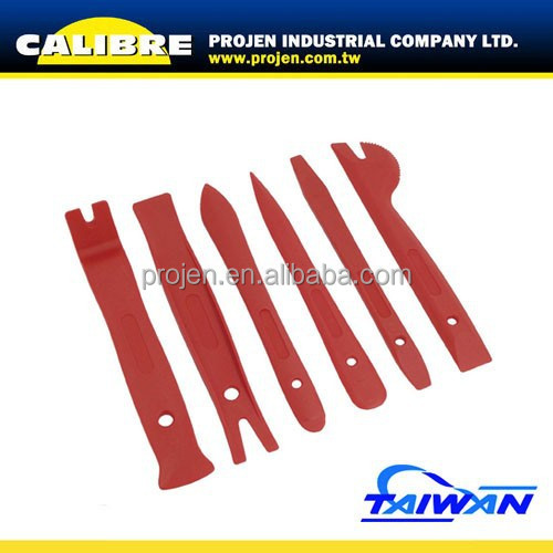 CALIBRE Auto Repair Tool 6PC Plastic Pry Bar Set Trim Removal Set