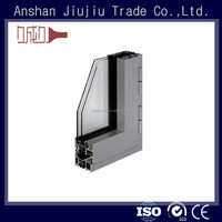 Easy assembly 6063 t6 anodizing aluminium window frame and glass