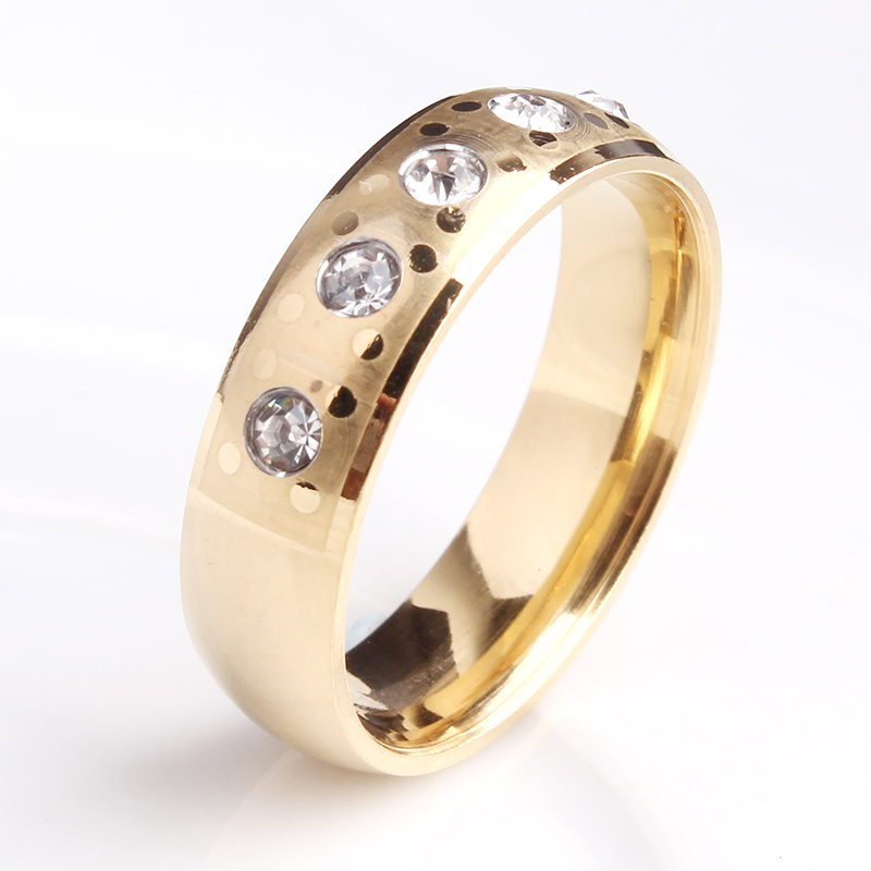 Vogue Jewelry 18K Gold Plated AAA Zircon Stone Wedding Ring