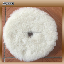 red color sheepskin buffing pad lambs wool padding