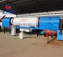 Rotary type sawdust carbonization furnace for sale rice husk biochar charcoal powder machine.