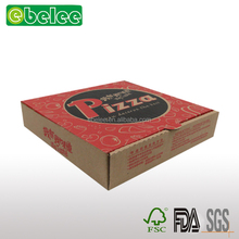 Any scale printed food cardboard kraft paper pizza box