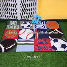 anti-slip and washable kids lovely sports area rug