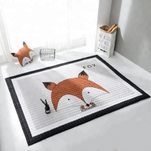 Orange Fox Fashion Baby Crawling Mats 145x195 Square Baby Storage Folding Play Mat Children Baby Play Mat