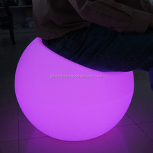RGB color changing plastic comfortable led chairs for the elderly outdoor