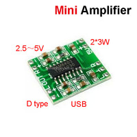 Factory price super loud digital power amplifier board 2 * 3W D class 2.5-5V USB power supply mini amplifier module board