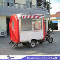 JX-FR220HI Professional Outdoor fiberglass Mobile Food Gasoline Motorcycle with awning