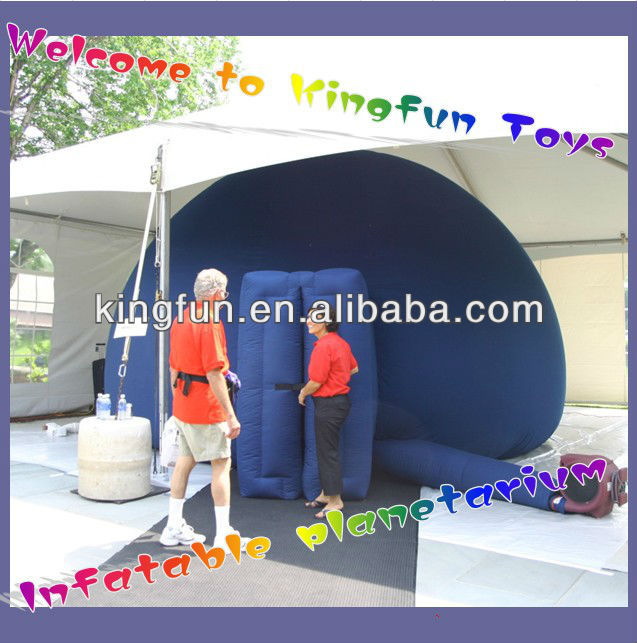 Mobile inflatable planetarium
