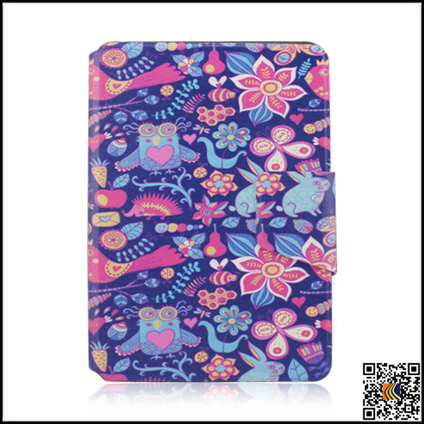 2016 Hot sale OEM newest fashion colorful painting PU leather tablet case for ipad mini2/3, sublimation cases