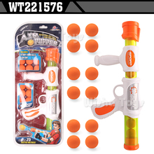 Hot selling kids funny soft foam ball bullet gun toy air power popper gun
