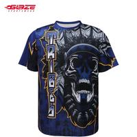 Custom sports team dye sublimation short sleeve gym tee shirt OEM