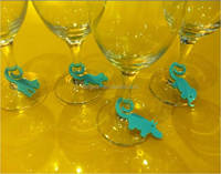 BSCI factory 9pcs/set silicone wine glass clips