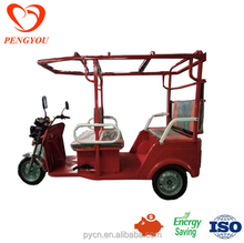 Cheap E-Rickshaw with Fiber Roof, cheap electric passenger tricycle with 5 seats, Cheap Bajaj