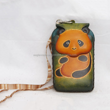 Handmade Leather Panda Cell Phone Case