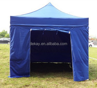 2.5x2.5m gazebo shelter with zip door sidewall