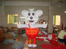 Wolf inflated balloon, Wolf shape PVC giant balloon, Cartoon character PVC balloon from factory