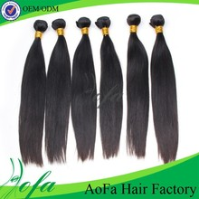Premium quality competive price unprocessed peruvian raw straight hair