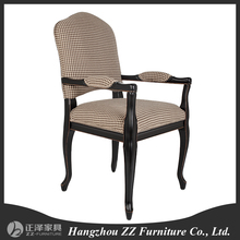 french style luxury dining chair wooden armrest chair