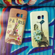 Eiffel Tower Printed mobile phone case for Samsung galaxy s4 Shockproof case