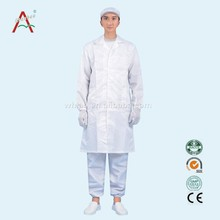 Disposable medical white without hood non woven lab coat