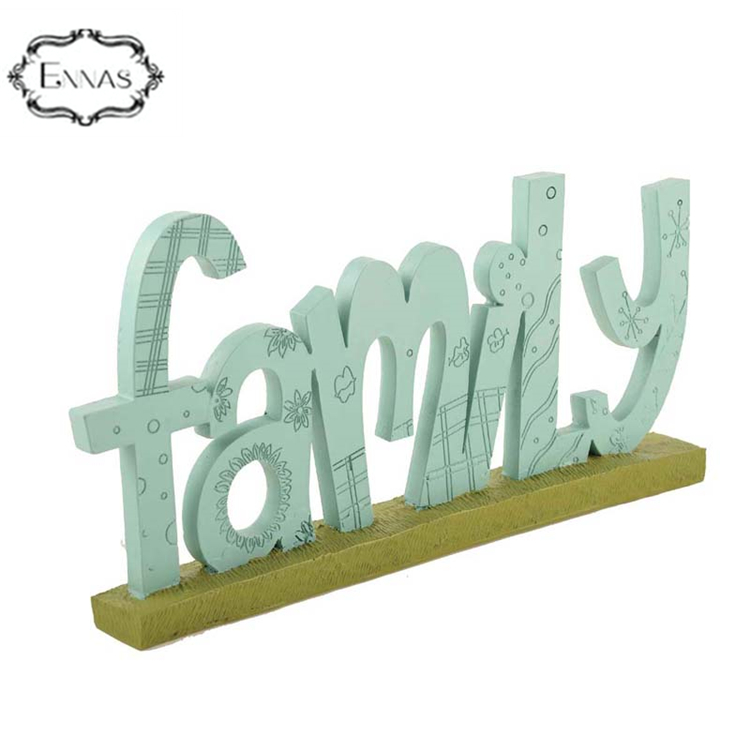 "Resin ""mom love family "" words for memorial plaques home decoration"