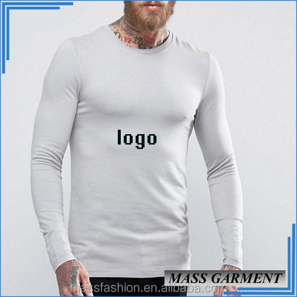 Bulk White Price Round Neck Long Sleeve T Shirt