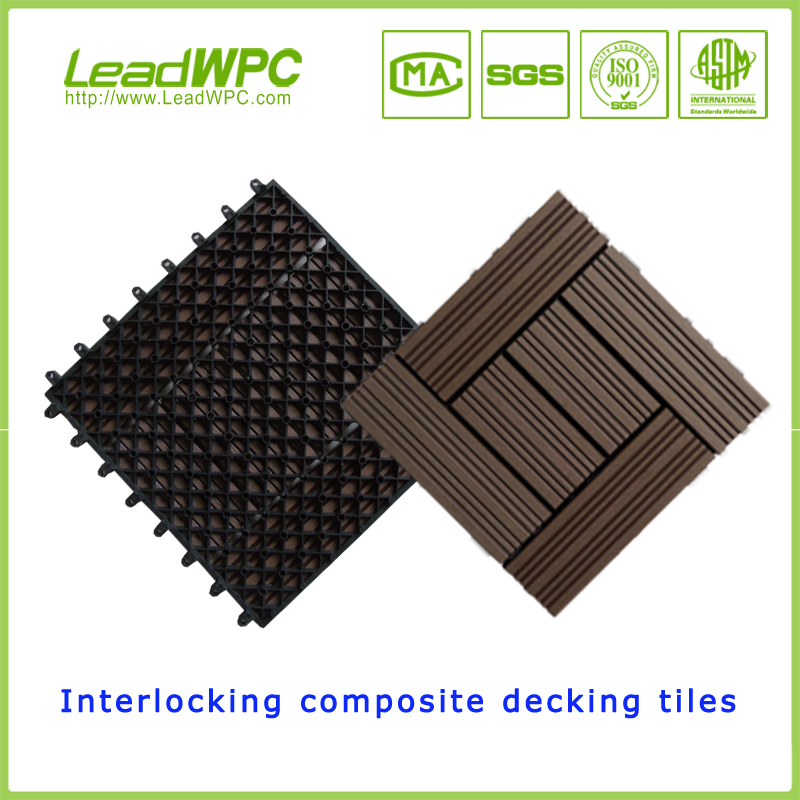 heat reflective UV resistant WPC interlocking composite DIY decking board