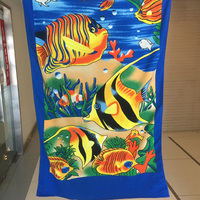 Cheap price high quality wholesale velour print microfibe beach towel and promotion towel