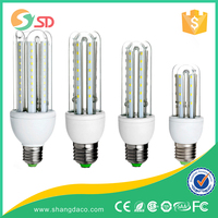 2016 AC85-265V 2U 3U 4U dimmable glass led corn bulb light U shape