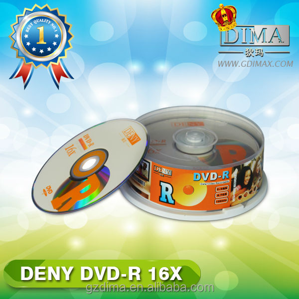 China supplier dvd media wholesale in cake box