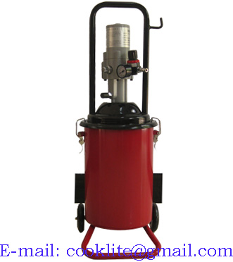High Volume Oil Grease Manual Bucket Pump Pneumatic Operated Greaser - 12L