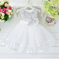 China evening maxi sequinned dress for baby girls