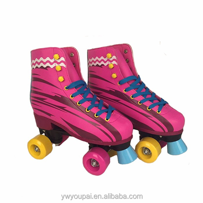 Youpai New hot sale fashion Safety quality children sport skating shoes durable quad roller skate