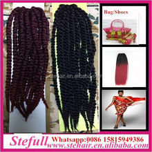 Stefull hair good quality no tangle japanese fiber pre braided synthetic hair