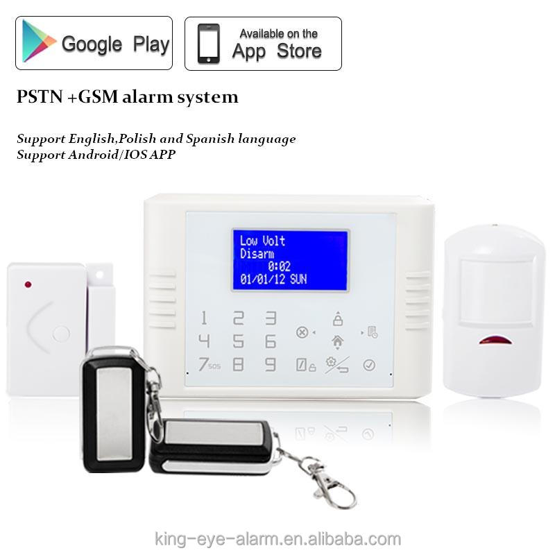 850/900/1800/1900mhz smartphone alarm touch with built-in sound siren+text display